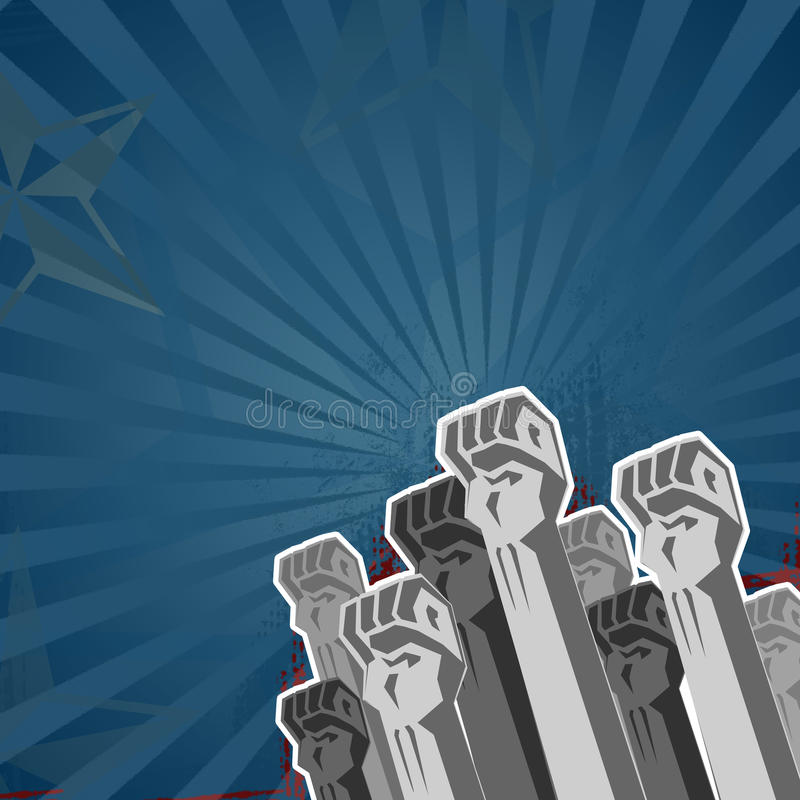 μπλε τόνοι επαναστάσεων ελεύθερη απεικόνιση δικαιώματος