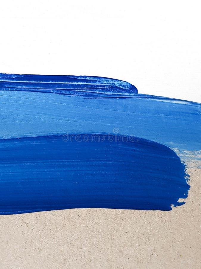 Μπλε υπόβαθρο ζωγραφικής τέχνης χρωμάτων αφηρημένο Τοπίο φύσης Σύγχρονο έργο τέχνης στοκ φωτογραφίες με δικαίωμα ελεύθερης χρήσης