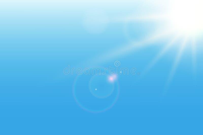 Μπλε υπόβαθρο ηλιοφάνειας επίσης corel σύρετε το διάνυσμα απεικόνισης διανυσματική απεικόνιση