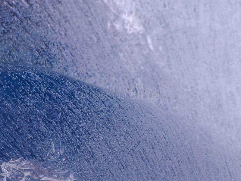 Μπλε υπόβαθρο με τις αεροφυσαλίδες παγωμένες στοκ φωτογραφία με δικαίωμα ελεύθερης χρήσης
