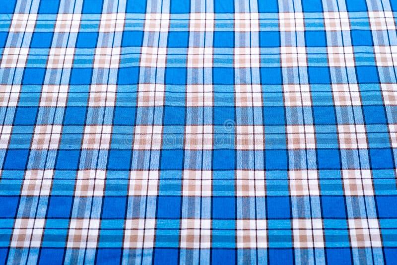Μπλε υπόβαθρο ταρτάν ή καρό για το σχέδιο μόδας στοκ φωτογραφία