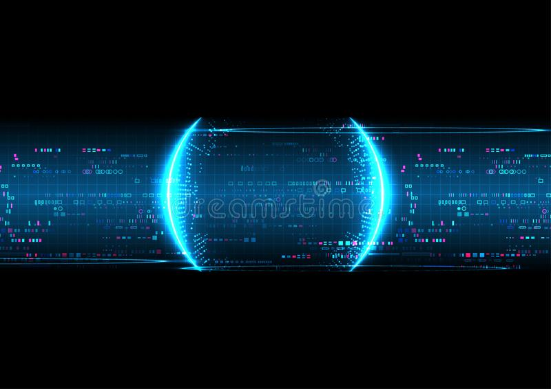 Μπλε υπόβαθρο τεχνολογίας εικονοκυττάρου ψηφιακό αφηρημένο διανυσματική απεικόνιση