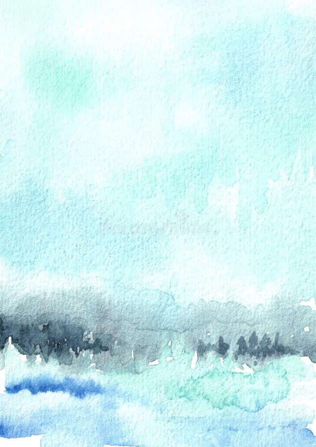 Μπλε υπόβαθρο watercolor για το σχέδιό σας Συρμένη χέρι σύσταση στοκ φωτογραφίες με δικαίωμα ελεύθερης χρήσης