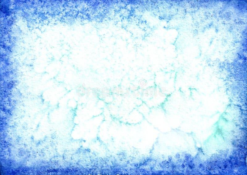 Μπλε υπόβαθρο watercolor για το σχέδιό σας Συρμένη χέρι σύσταση στοκ εικόνες