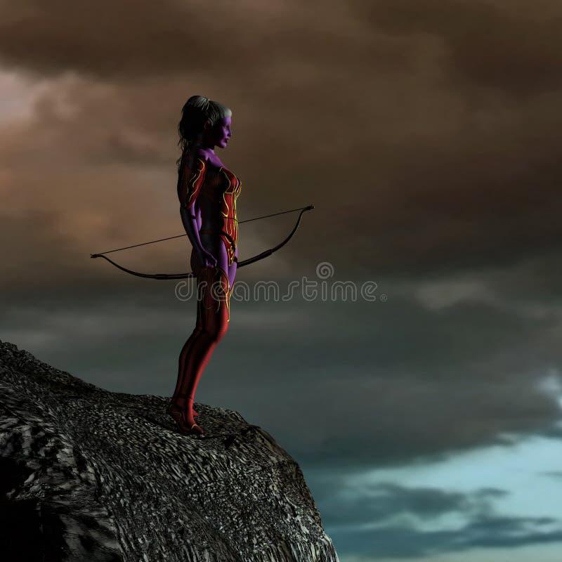 μπλε φαντασία νεραιδών τόξ&omega διανυσματική απεικόνιση
