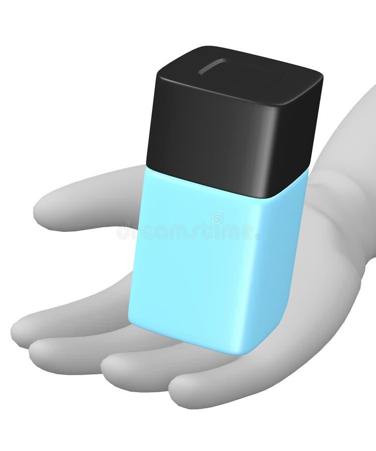 μπλε φιάλη διανυσματική απεικόνιση
