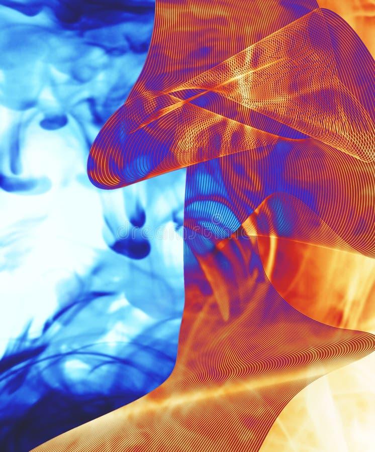 μπλε φλεμένος κύμα διανυσματική απεικόνιση