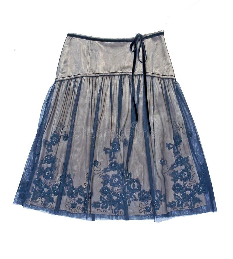 μπλε φούστα μεταξιού λο&upsil στοκ εικόνες