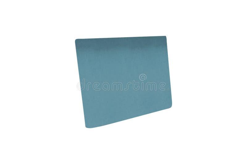 Μπλε φύλλο εγγράφου που απομονώνεται στοκ φωτογραφίες