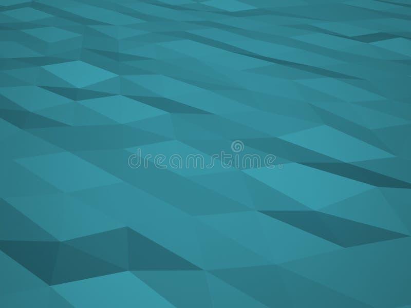 Μπλε χαμηλό polygonal υπόβαθρο Ουρανός-σύσταση στοκ φωτογραφίες με δικαίωμα ελεύθερης χρήσης