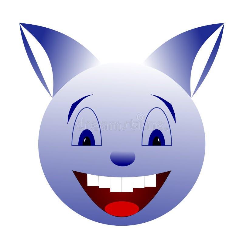 Μπλε χαμογελώντας πλάσμα Κανένα υπόβαθρο, διαφανές ελεύθερη απεικόνιση δικαιώματος