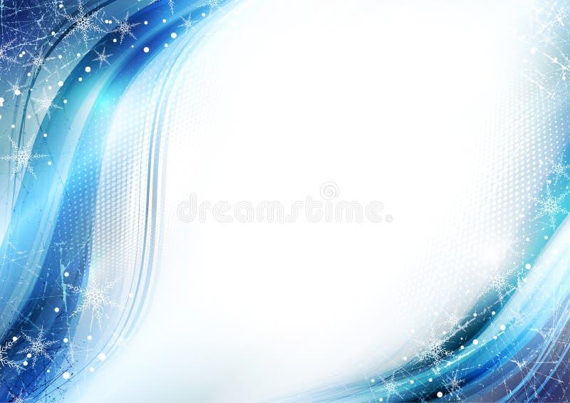 μπλε χειμώνας καρτών απεικόνιση αποθεμάτων