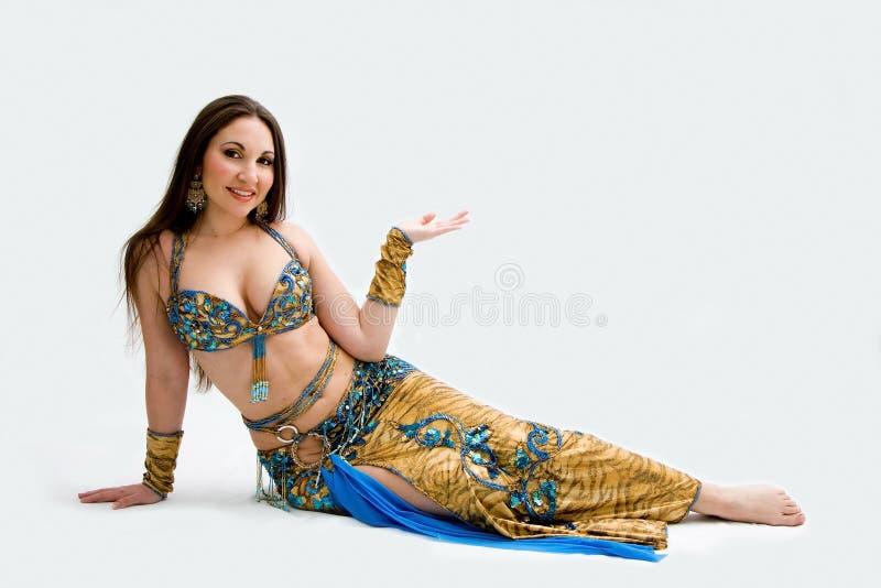 μπλε χορευτής κοιλιών στοκ φωτογραφίες με δικαίωμα ελεύθερης χρήσης