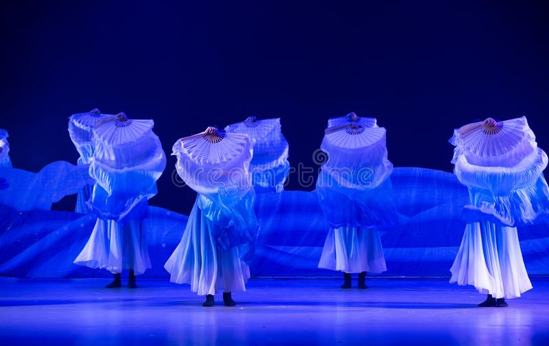 Μπλε χορός ` κύμα-Huang Mingliang ` s θάλασσας κανένα καταφύγιο ` στοκ φωτογραφία με δικαίωμα ελεύθερης χρήσης