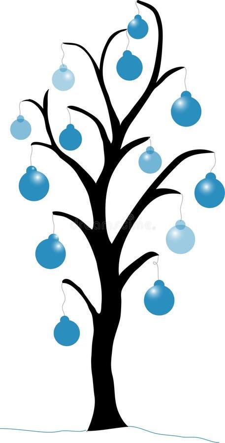 μπλε χριστουγεννιάτικο δέντρο διανυσματική απεικόνιση