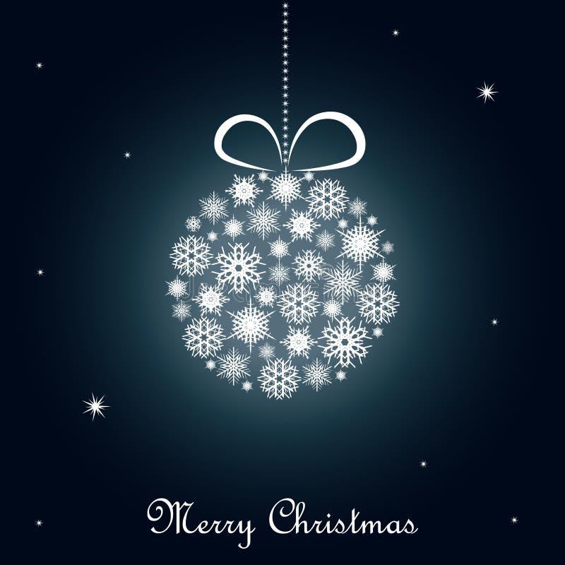 μπλε Χριστούγεννα ανασκό& ελεύθερη απεικόνιση δικαιώματος