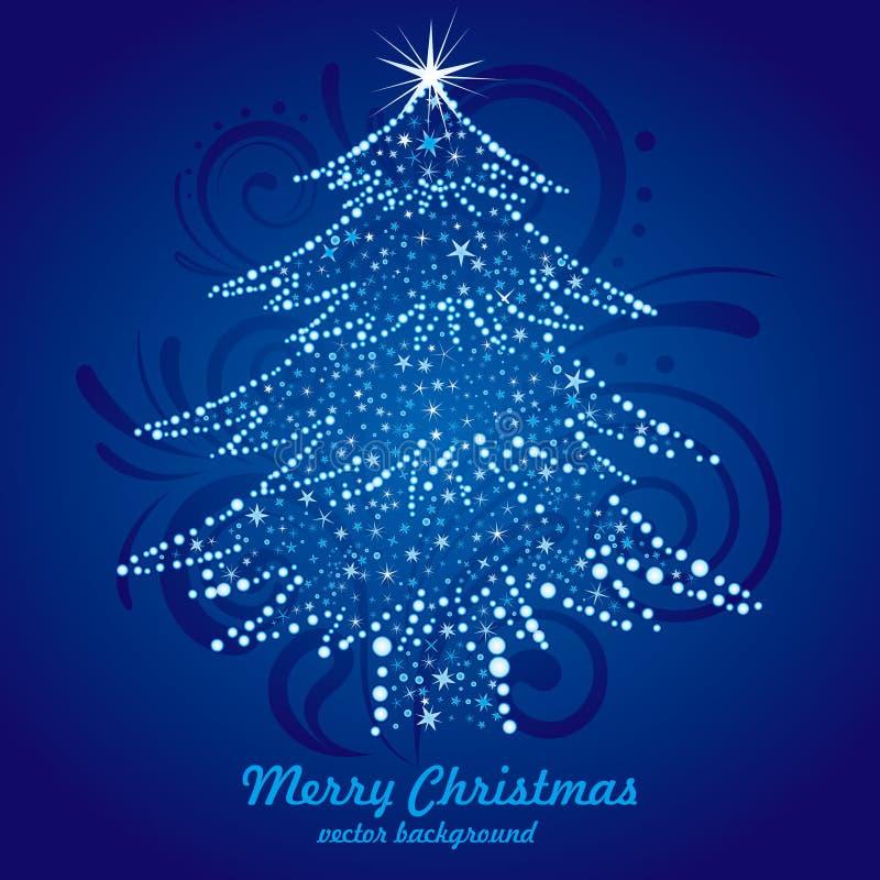 Download μπλε Χριστούγεννα ανασκό& διανυσματική απεικόνιση. εικονογραφία από ανασκόπησης - 17052268