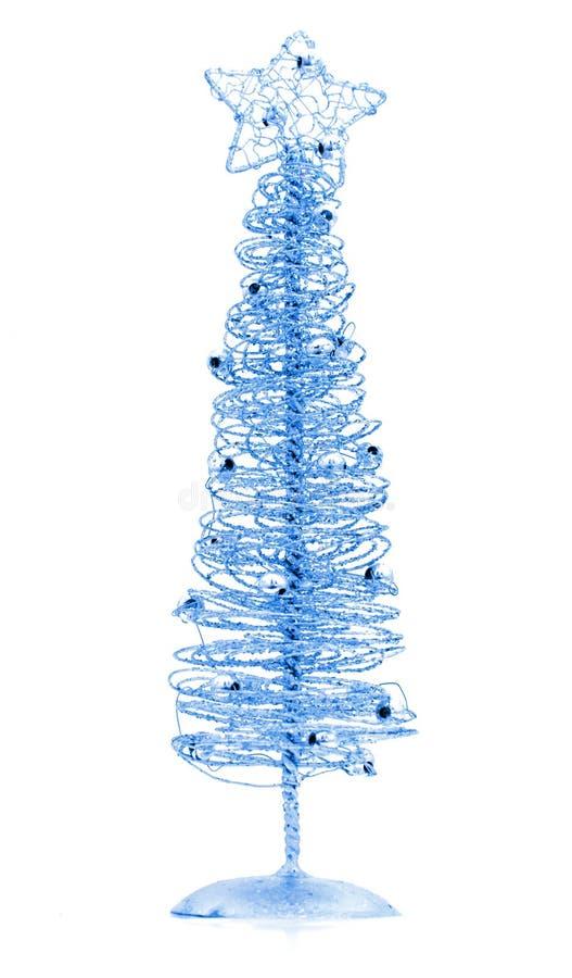 μπλε Χριστούγεννα δέντρων στοκ φωτογραφίες με δικαίωμα ελεύθερης χρήσης