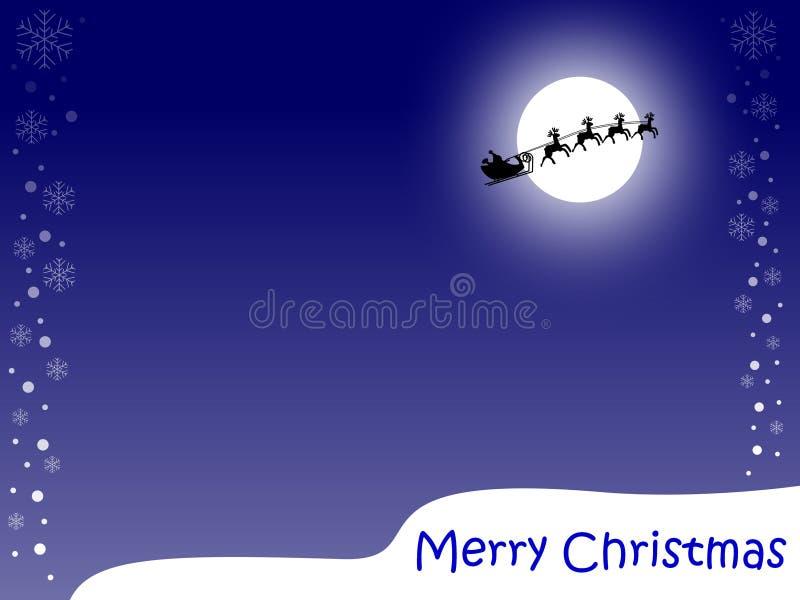 μπλε Χριστούγεννα καρτών εύθυμα διανυσματική απεικόνιση