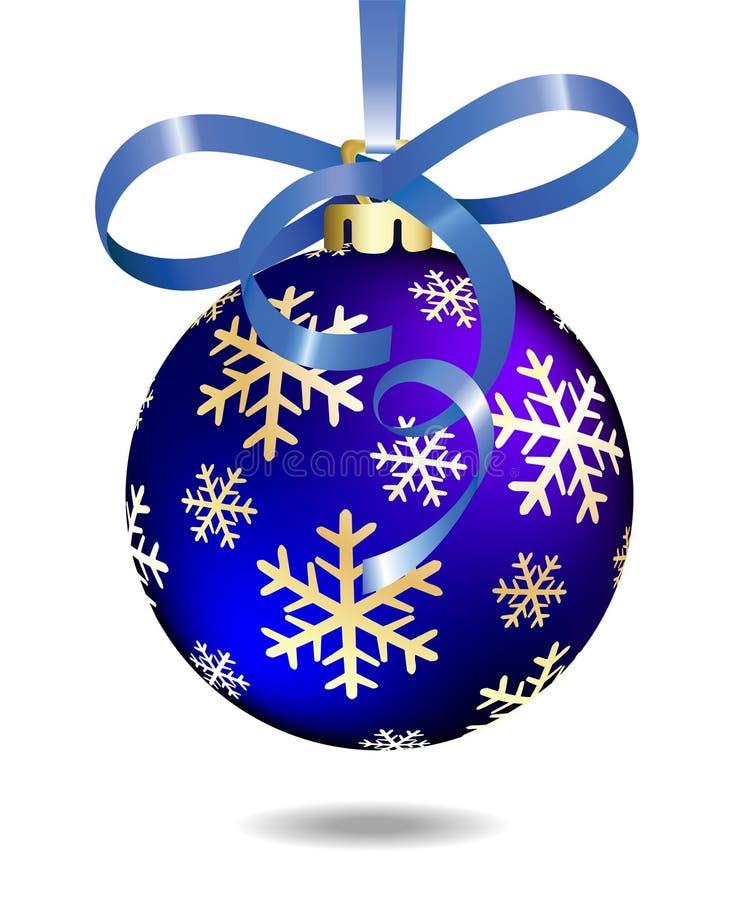 μπλε Χριστούγεννα σφαιρών απεικόνιση αποθεμάτων
