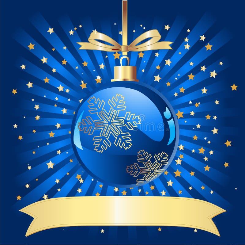 μπλε Χριστούγεννα σφαιρώ&nu ελεύθερη απεικόνιση δικαιώματος