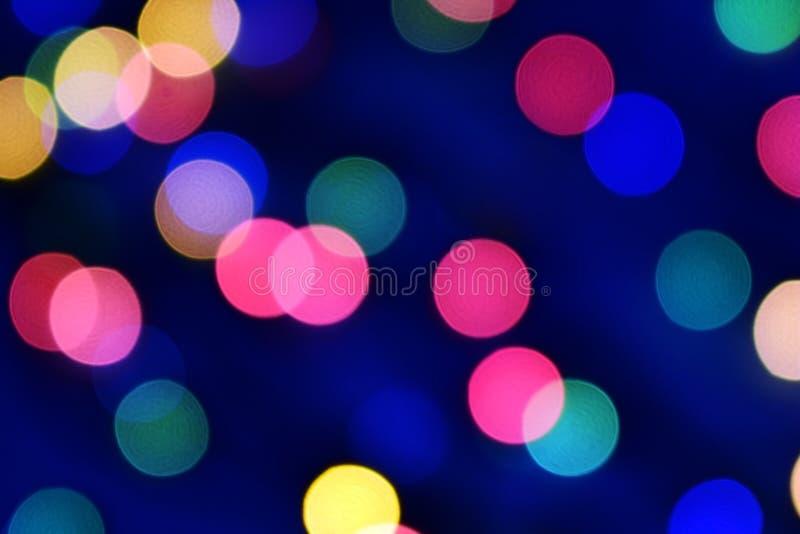 Μπλε Χριστούγεννα bokeh με τα ελαφριά υπέροχα μικρά φω'τα στοκ φωτογραφίες