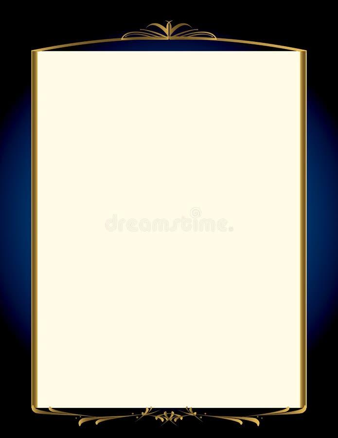 μπλε χρυσός πλαισίων 2 ανα&si διανυσματική απεικόνιση