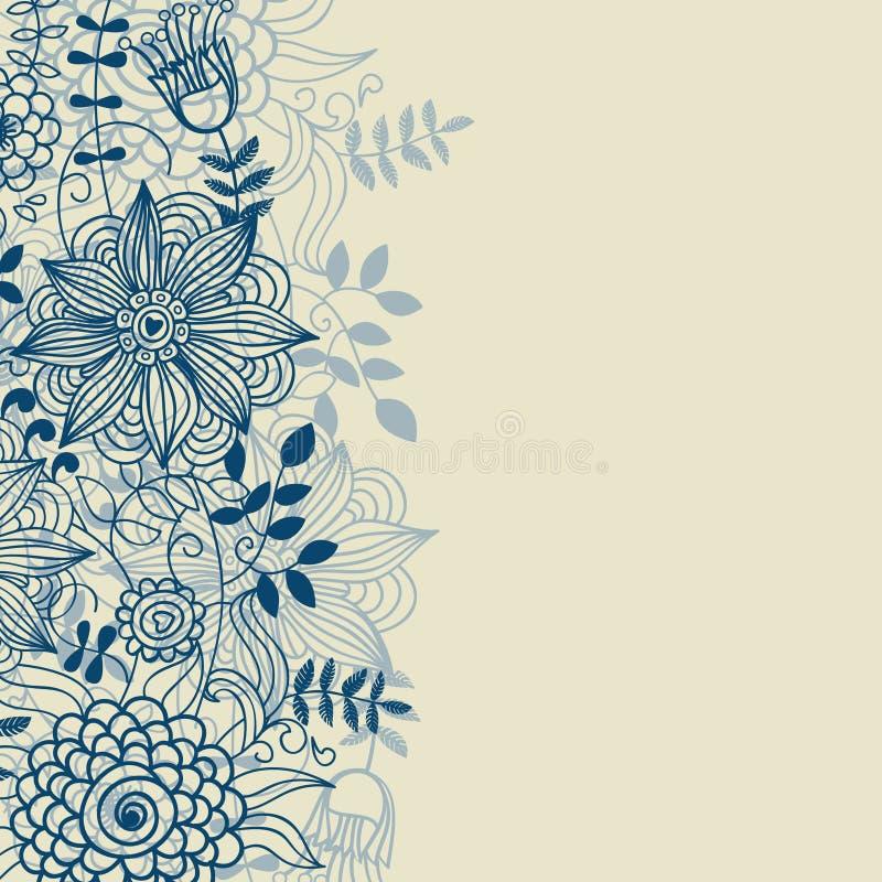 μπλε χρώματα ανασκόπησης floral ελεύθερη απεικόνιση δικαιώματος