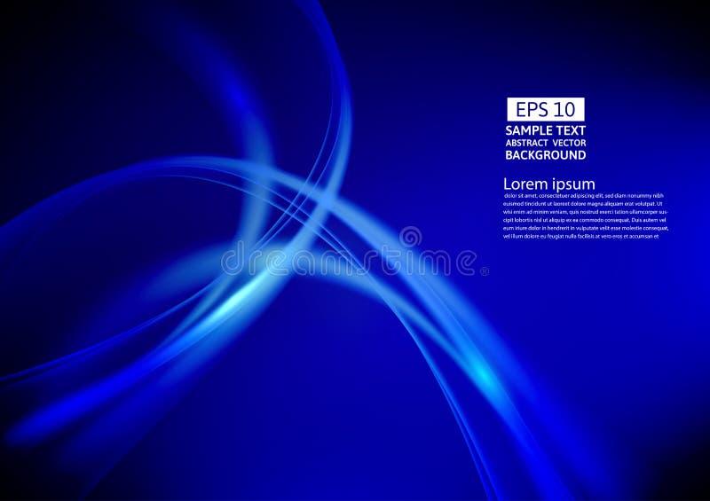 Μπλε χρώματος σχέδιο υποβάθρου κυμάτων αφηρημένο επίσης corel σύρετε το διάνυσμα απεικόνισης διανυσματική απεικόνιση