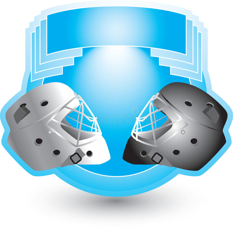 μπλε χόκεϋ κρανών λόφων απεικόνιση αποθεμάτων