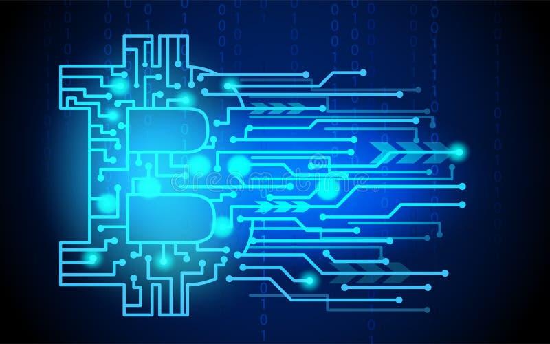 Μπλε ψηφιακά νομίσματα cryptocurrency ελεύθερη απεικόνιση δικαιώματος