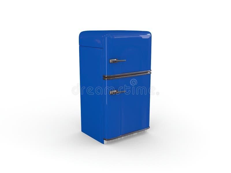 μπλε ψυγείο αναδρομικό στοκ φωτογραφία με δικαίωμα ελεύθερης χρήσης