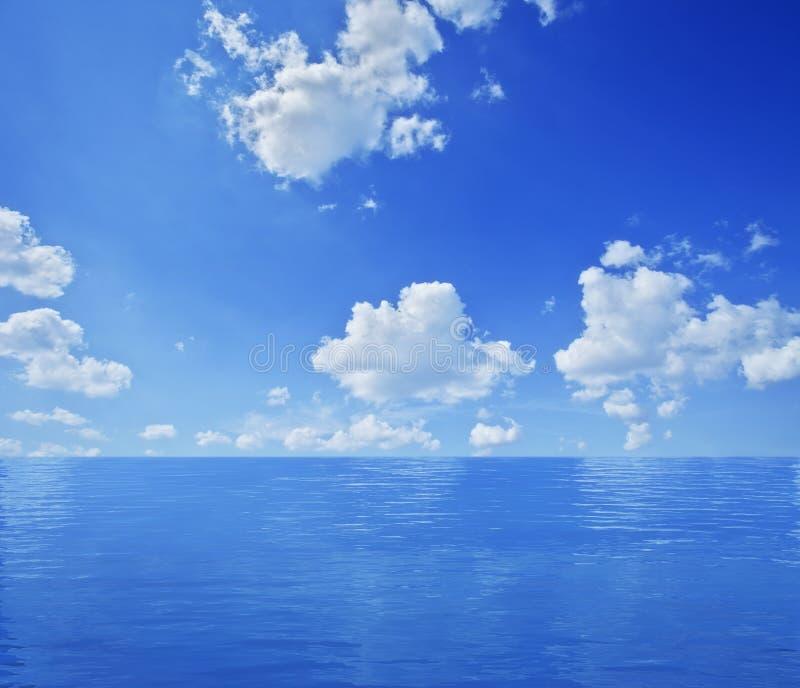 μπλε ωκεανός τοπίων στοκ εικόνες