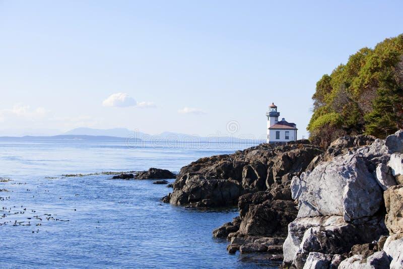 Μπλε ύδατα του νησιού του San Juan, Ουάσιγκτον στοκ εικόνες