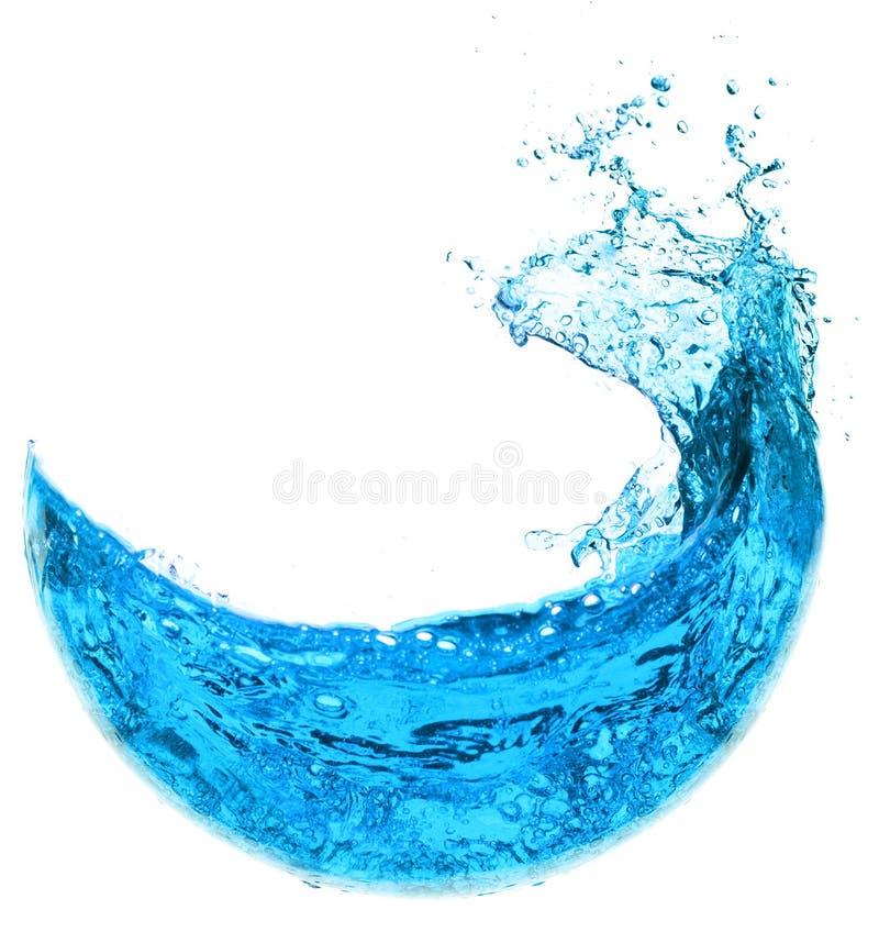 μπλε ύδωρ παφλασμών στοκ φωτογραφία
