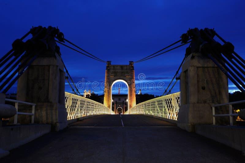μπλε ώρα Λυών της Γαλλίας στοκ φωτογραφίες