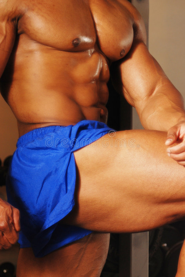μπλε bodybuilder στοκ εικόνες με δικαίωμα ελεύθερης χρήσης