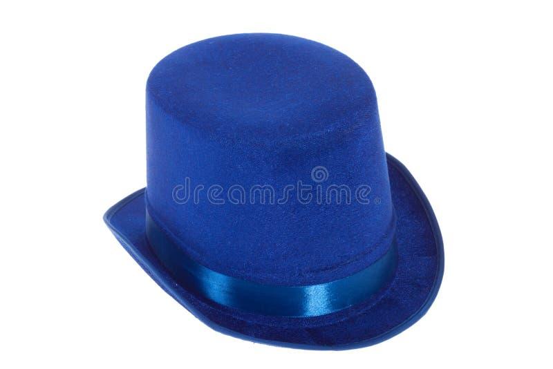 μπλε chapeau claque στοκ εικόνες
