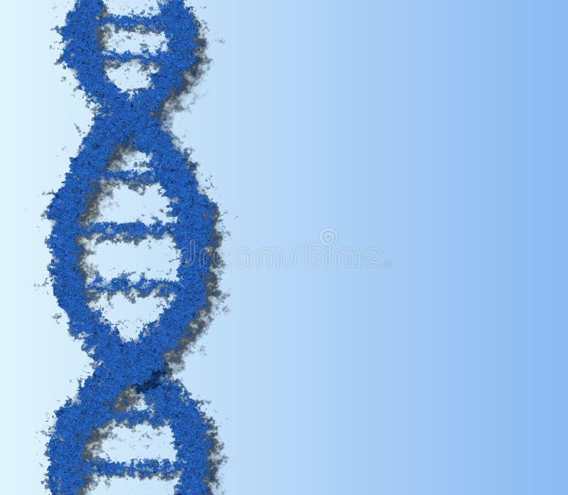 μπλε DNA Στοκ Εικόνες