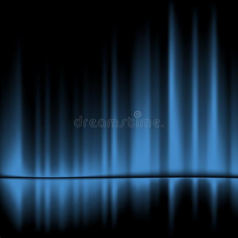 μπλε drapes διανυσματική απεικόνιση