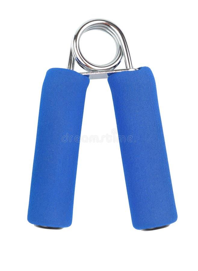 μπλε flexor χέρι στοκ φωτογραφία