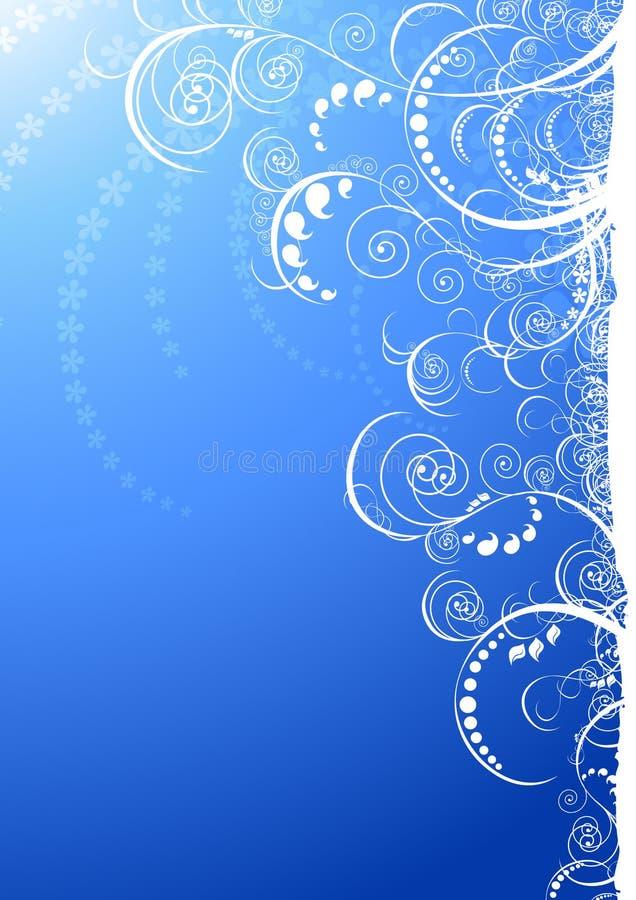 μπλε floral περίκομψος ελεύθερη απεικόνιση δικαιώματος
