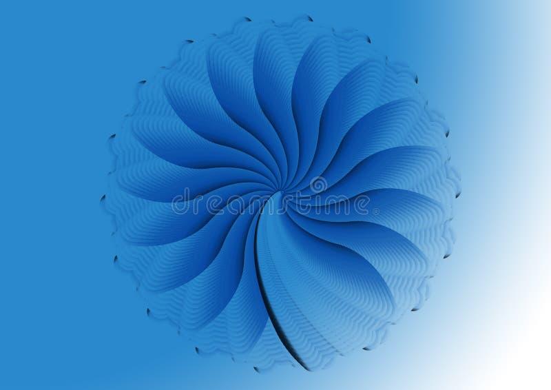 μπλε fractal σχεδίου διανυσματική απεικόνιση