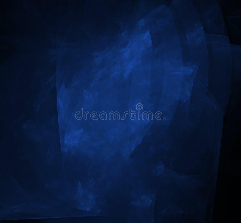 Μπλε fractal Nebulas στο μαύρο υπόβαθρο abstact ψηφιακό κόκκινο twirl τέχνης βαθιά τρισδιάστατη απόδοση παραγμένη υπολογιστής εικ διανυσματική απεικόνιση
