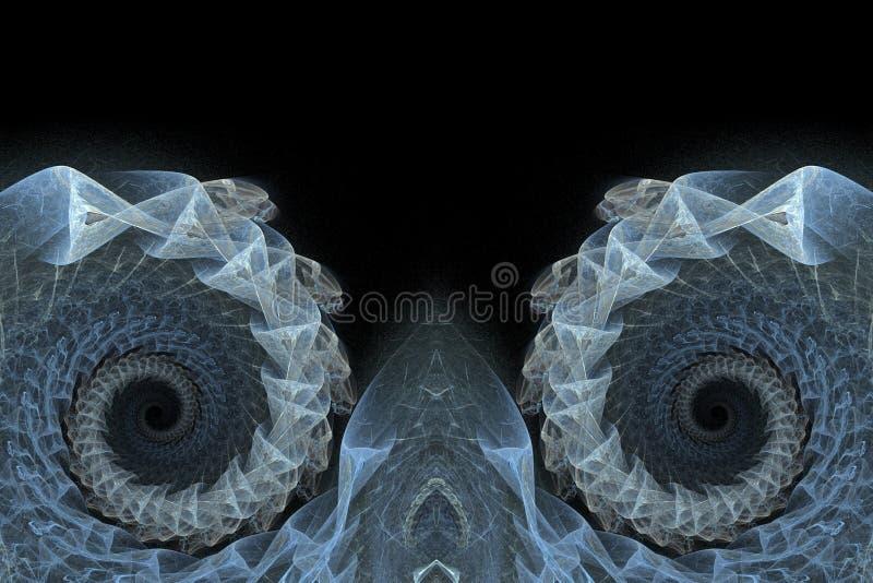 Download μπλε Fractals ανασκόπησης σπείρα Απεικόνιση αποθεμάτων - εικονογραφία από backgrounder, σύμβολο: 380022
