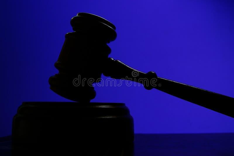 μπλε gavel στοκ φωτογραφία