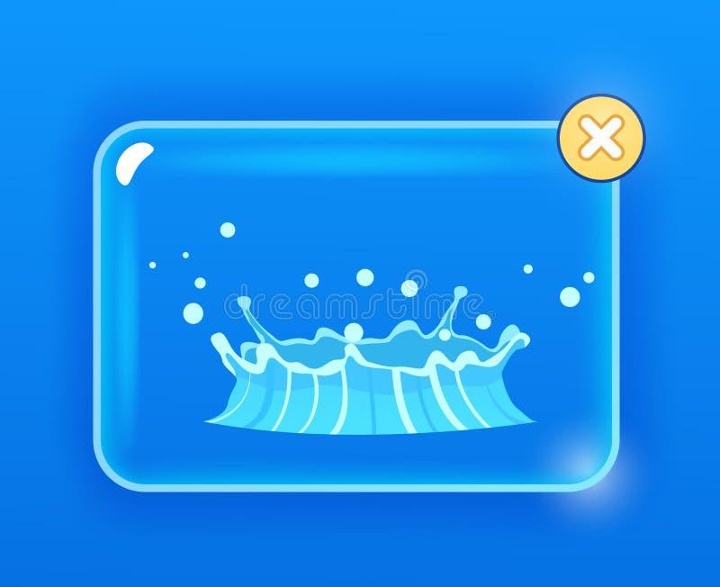 Μπλε Geyser ροή του νερού από κάτω από το γήινο σχέδιο διανυσματική απεικόνιση