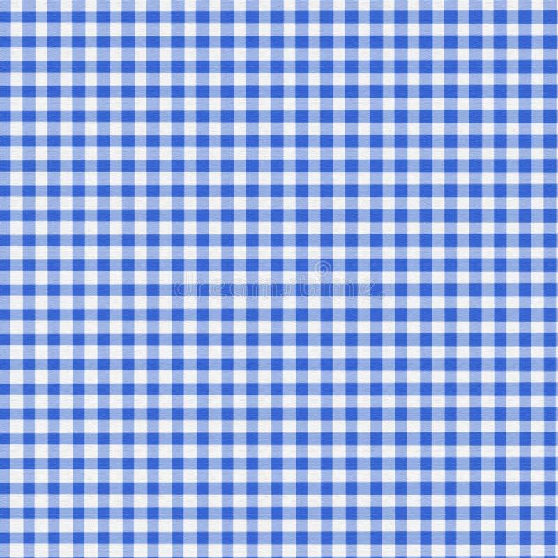 μπλε gingham φως διανυσματική απεικόνιση