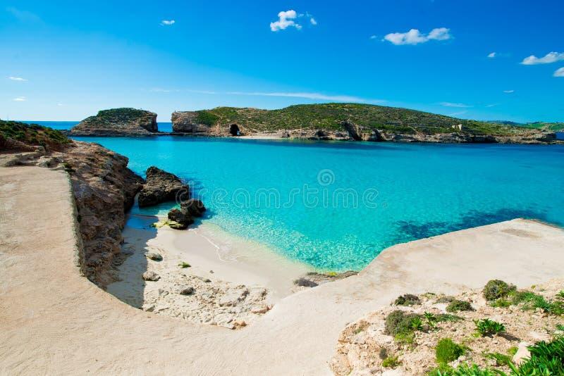 Μπλε gozo νησιών comino λιμνοθαλασσών στοκ εικόνες με δικαίωμα ελεύθερης χρήσης