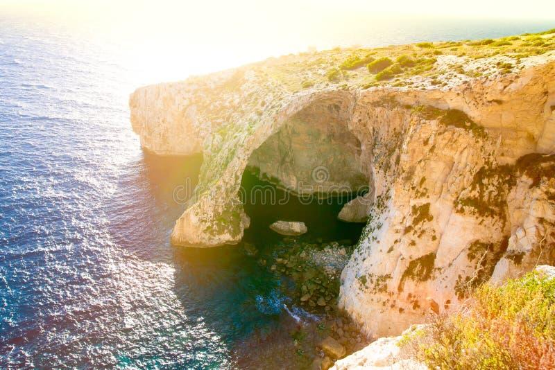 Μπλε grotto στη Μάλτα στοκ εικόνα